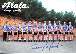 TEAM CARD | Atala - Campagnolo - Magniflex - Pirelli | 1982 | FIRMATO! | SIGNED By CASIRAGHI! - Cyclisme
