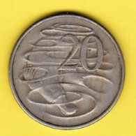 AUSTRALIA  20 CENTS 1966 (KM # 66) #5388 - 20 Cents