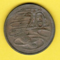AUSTRALIA  20 CENTS 1967 (KM # 66) #5389 - Decimal Coinage (1966-...)