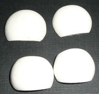 Rare Lot De 4 Anciennes Perles Ou Boutons En écume De Mer, Lisses - Perles