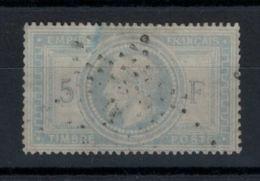 Yvert 33 - Napoléon III Lauré 5 F Gris Bleu Oblitéré - Bien Centré - Voir Scans - 1863-1870 Napoléon III Lauré