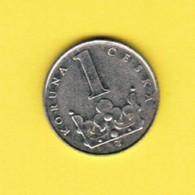 CZECH REPUBLIC  1 KORUNA 1993 (KM # 7) #5393 - Tschechische Rep.