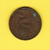 GREAT BRITAIN  1 PENNY 1853 (KM # 739) #5394 - 1816-1901 : 19th C. Minting