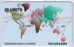 TELEGLOBE 20 Units RARE - Demandez-nous Le Monde - Voir Scans - France