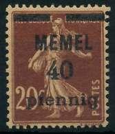 MEMEL 1920 Nr 22b Postfrisch X887DAE - Memelgebiet