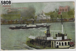 Hamburg - St. Pauli Landungsbrücke Dampfer Repsold - Steamers