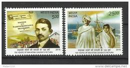 INDIA, 2015, 100 Years Of Mahatma Gandhi Return From South Africa Ship Newspaper, Set 2 V,  MNH, (**) - India