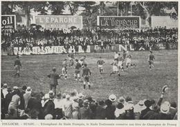PHOTO PRESSE   17,5 Cm  X  12,5   Cm     STADE TOULOUSAIN CHAMPION DE FRANCE BAT LE STADE FRANCAIS - Rugby