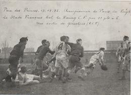 REPRODUCTION PHOTO PRESSE   17,5 Cm  X  12,5   Cm    PARC DES PRINCES 13-12-25 STADE FRANCAIS. RACING C.F. 11-6 - Rugby