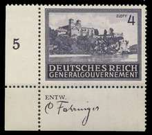 GENERALGOUVERNEMENT 1943 Nr 114 Postfrisch ECKE-ULI X8B510E - Besetzungen 1938-45