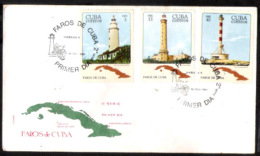 660  Phares - Lighthouses - 1981 - FDC - Cb -  3,50  A10 - Lighthouses
