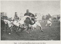 PHOTO PRESSE   17,2  Cm  X  12,2  Cm JEAN BOUIN   STADE BAT LE RACING ET GAGNE LE CHAMPIONNAT DE PARIS 1927 - Rugby