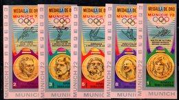 ETP333 - GUINEA EQUATORIALE , Medaglie D'oro  Serie  NON Dentellata. ***  MNH (2380A) . MONACO 1972 - Summer 1972: Munich