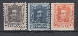 1922 - 1923 Edifil Nº 318, 319, 320,   MH, Alfonso XIII. - Nuevos
