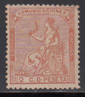 1873 Edifil Nº 131 MNH,  Alegoría De España. - Nuevos