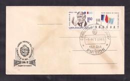 Uruguay - 1964-  FDC - Visite De Charles De Gaulle, Président De France - De Gaulle (General)