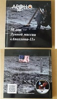 50th Anniversary Apollo 11 Souvenir Booklet With 10 Postcards & Stamps Russia 2019 Limited Issue - Blocs & Feuillets