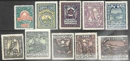 Armenia  1922  Sc#300-9 Set  MH  2016 Scott Value $11.10 - Armenia