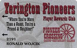 Yerington Pioneer Crossing Casino - Yerington, NV - Slot Card - Casino Cards