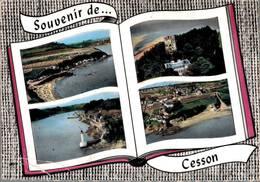 Cesson Plage Du Vallet La Vieille Tour Le Phare Et Le Légué 1965 Coin Plié CPM Ou CPSM - Autres Communes