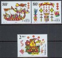 China MiNr. 3250/52 **, Drachenbootfest - 1949 - ... Volksrepublik