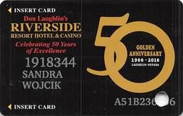Riverside Casino - Laughlin NV - 50th Anniv Slot Card With P756938 Over Mag Stripe - Casino Cards