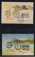 GREECE STAMPS 2014/THE BICYCLE (4 M/S)  From Booklet(first Day Issue Postmark)   12/6/14-USED-COMPLETE SET - Gebruikt
