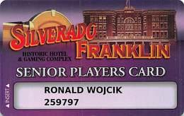 Silverado - Franklin Historic Hotel - Deadwood SD - Casino Slot Card - Smaller Box For Player Info & Smaller Text - Casino Cards