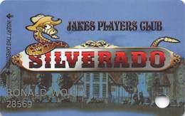Silverado Casino - Fernley, NV - Slot Card - B&W Reverse Logo Centered - Casino Cards