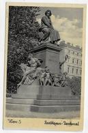 (RECTO / VERSO) WIEN EN 1937 - BEETHOVEN DENKMAL - BEAU TIMBRE - FORMAT CPA VOYAGEE - Altri