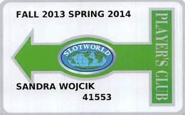 Slotworld Casino - Carson City, NV - Slot Card - Spring 2013 Fall 2014 - Casino Cards