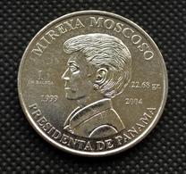 Panama 1 Balboa (Mireya Moscoso) 2004, Km134, UNC. Commemorative Coin - Panama
