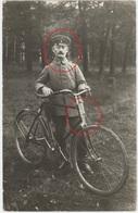 Deutsche Soldaten - Fahrrad Velo - Landwehr Landsturm - Carte  Photo Allemande  (1914-1918) - Weltkrieg 1914-18