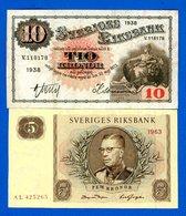 Suède  2  Billets - Suède
