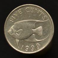 Bermuda 5 Cents 2000, Km108, Animal Coin, Fish - Bermudas