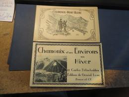 CHAMONIX MONT BLANC 2 CARNETS PAS COURANT (( Lot 351 )) - Chamonix-Mont-Blanc