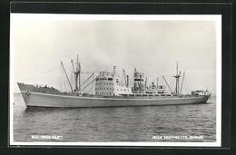 AK Handelsschiff M.V. Irish Oak Vor Einer Küste, Irish Shipping Ltd. Dublin - Koopvaardij