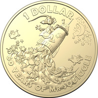 AUSTRALIA • 2019 • $1 • Mr Squiggle - Rocket •  Coin In Coin Holder - Others