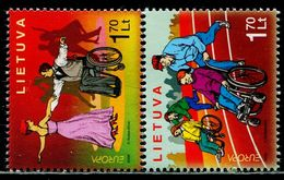 AX0547 Lithuania 2006 Europa Helps Disabled 2V MNH - 2006