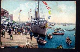 REF 406 : CPA Turquie Constantinople Le Quai Du Galata - Türkei