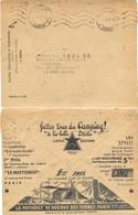 """N° 66 CHEQUES POSTAUX * PARIS * OMec KRAG 9.IV.37 Avec PUB Au Verso : Faites Tous Du Camping ! """" à La Belle Etoile"""" - Documents Of Postal Services"""