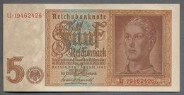 Pick186a  Ro179b DEU-220b.  5 Reichsmark 1942  UNC - [ 4] 1933-1945 : Terzo  Reich
