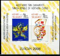 AX0557 Northern Cyprus 2006 Europa Flag, Etc. S/S Impref MNH - 2006