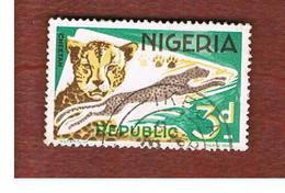 NIGERIA  -  SG 176  -  1966  ANIMALS: CHEETAH   -  USED * - Nigeria (1961-...)