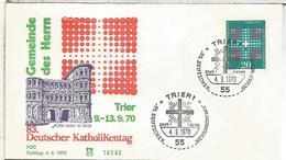 ALEMANIA FDC 1970 DIA RELIGION CATOLICA - Cristianismo