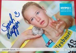 Sara Lagger - Autographes