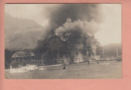 OLD  POSTCARD -  ITALY - ITALIA - FIRE 1910 - KARERSEE HOTEL - PHOTO GEIGER - Trento