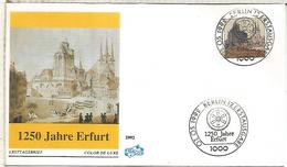 ALEMANIA FDC 1992 1250 JAHRE ERFURT  CATEDRAL DOM - Iglesias Y Catedrales
