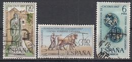 SPANJE - Michel - 1967 - Nr 1720/22 - Gest/Obl/Us - 1931-Aujourd'hui: II. République - ....Juan Carlos I