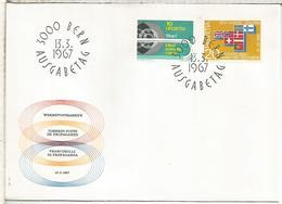 SUIZA FDC 1967 ADUANA ZOLL CIEGO BLIND AVEUGLE - Handicap